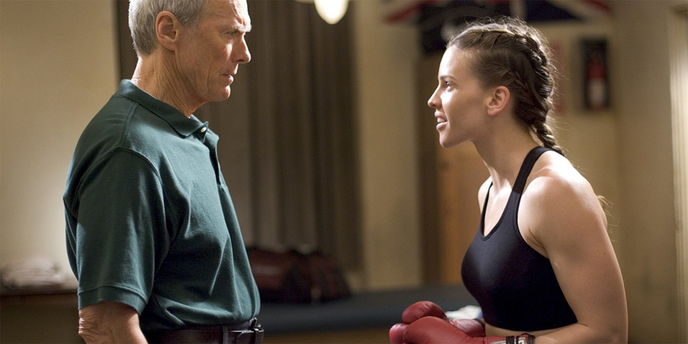 Clint Eastwood og Hillary Swank i Million Dollar Baby
