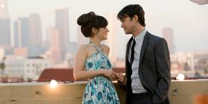Zooey Deschanel og Joseph Gordon-Levitt i (500) Days of Summer