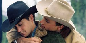Jake Gyllenhaal og avdøde Heath Ledger i Brokeback Mountain