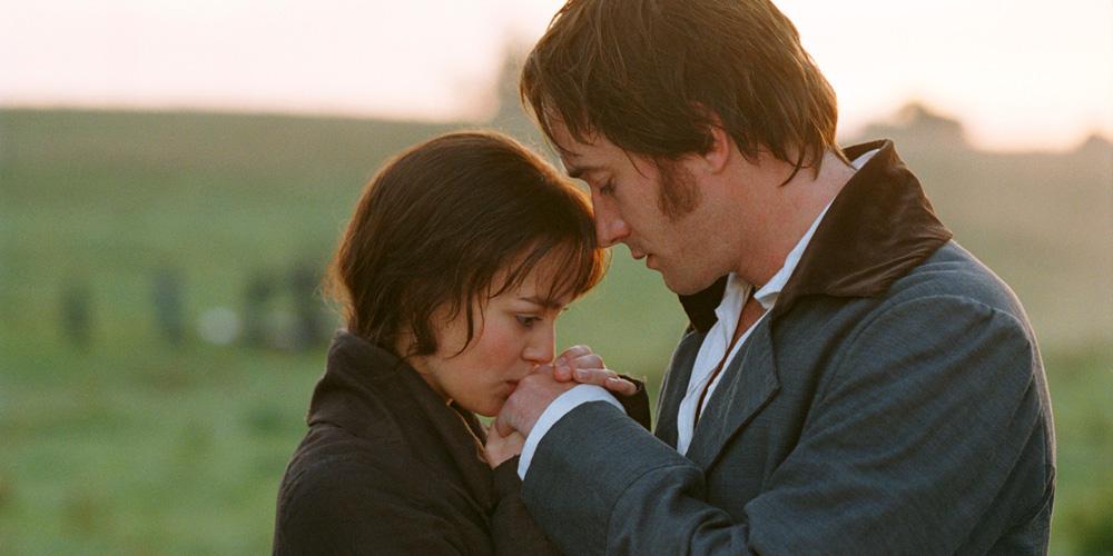 Matthew Macfadyen som Mr. Darcy og Keira Knightley som Elizabeth Bennet i Stolthet og fordom