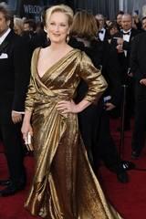 Kledd i gull som et kvinnelig motstykke til statuetten: Oscar-vinner Meryl Streep