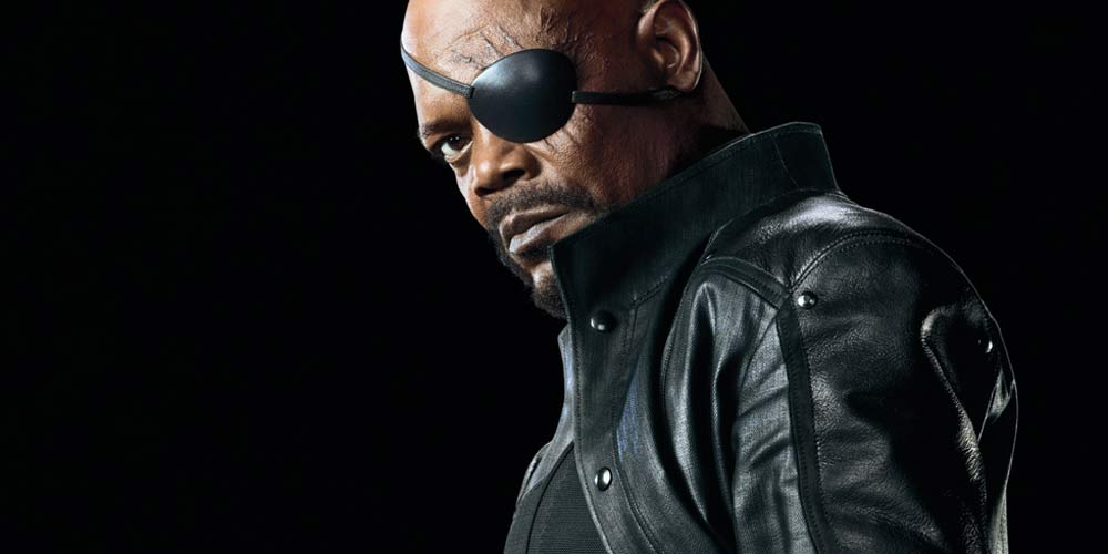 Nick Fury (Samuel L. Jackson) fra The Avengers