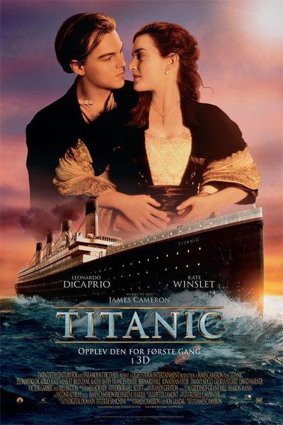 Titanic 3D poster.