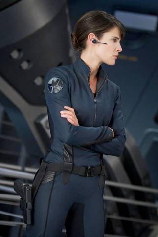 Cobie Smulders som agent Maria Hill i The Avengers