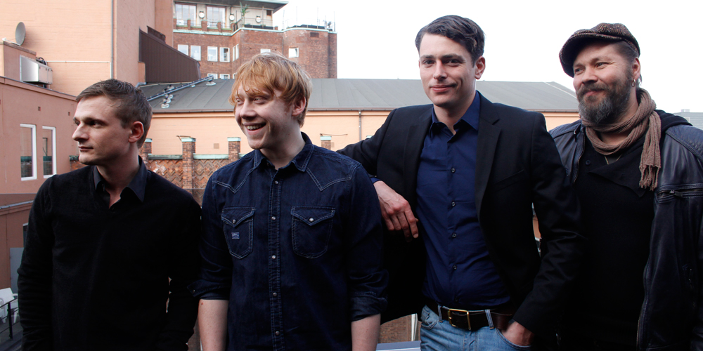 Florian Lukas, Rupert Grint og Lachlan Nieboer promoterer Into the White
