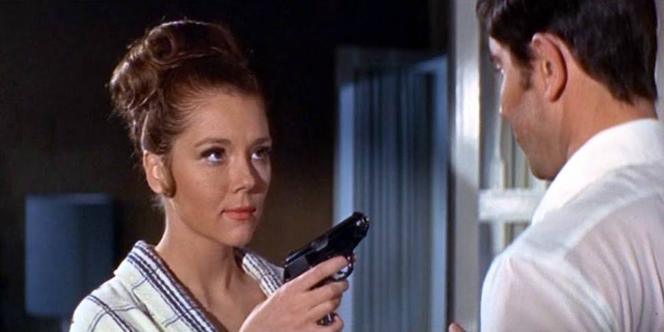 Diana Rigg som Tracy Di Vicenzo i On Her Majesty's Secret Service