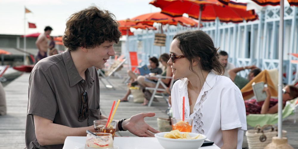Jesse Eisenberg og Ellen Page i To Rome with Love