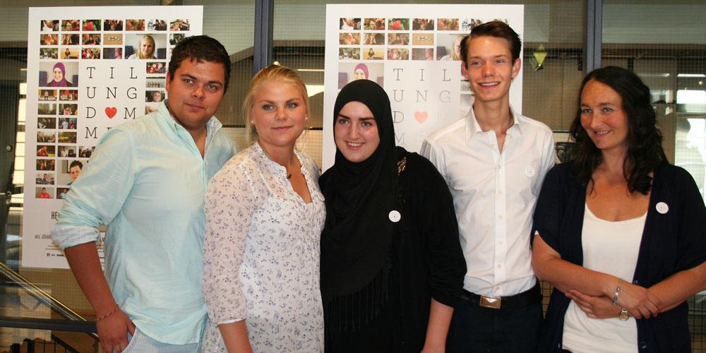 Henrik, Johanne, Sana, Haakon og regissør Kari Anne Moe.