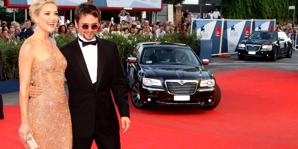 Kate Hudson og Matt Bellamy på filmfestivalen i Venezia