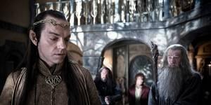Hugo Weaving, RIchard Armitage, Martin Freeman og Ian McKellen i Hobbiten - En uventet reise