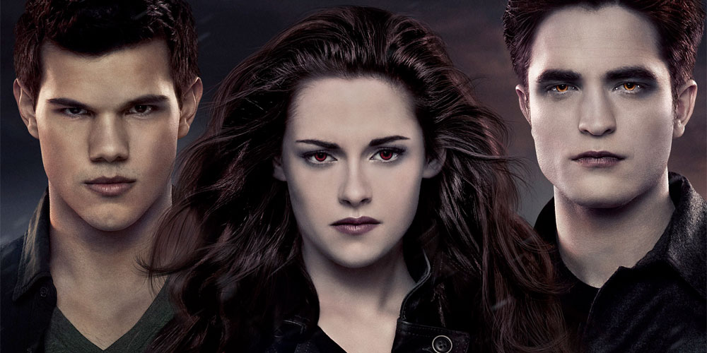 Taylor Lautner, Kristen Stewart og Robert Pattinson i Breaking Dawn - Part 2