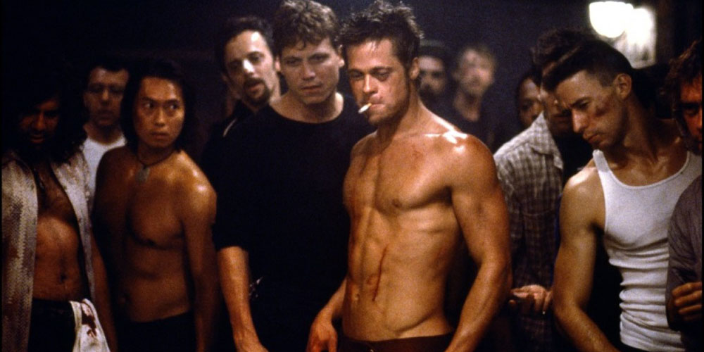 Brad Pitt som not-so-pretty-boy i Fight Club.jpg