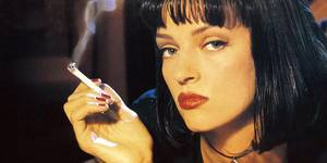 Uma Thurman i Quentin Tarantinos Pulp Fiction (1994)