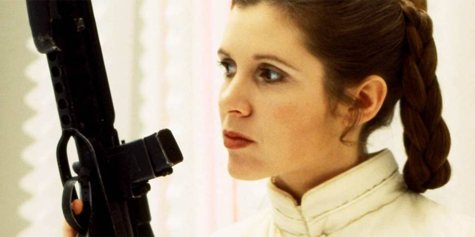 Carrie Fisher som Princess Leia i Star Wars-serien