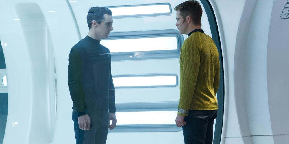 Benedict Cumberbatch og Chris Pine i Star Trek: Into Darkness
