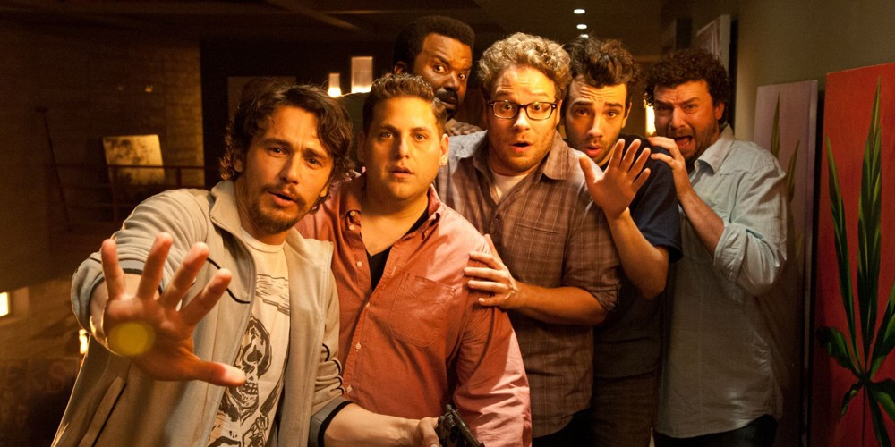 James Franco, Jonah Hill og Seth Rogen i This is The End