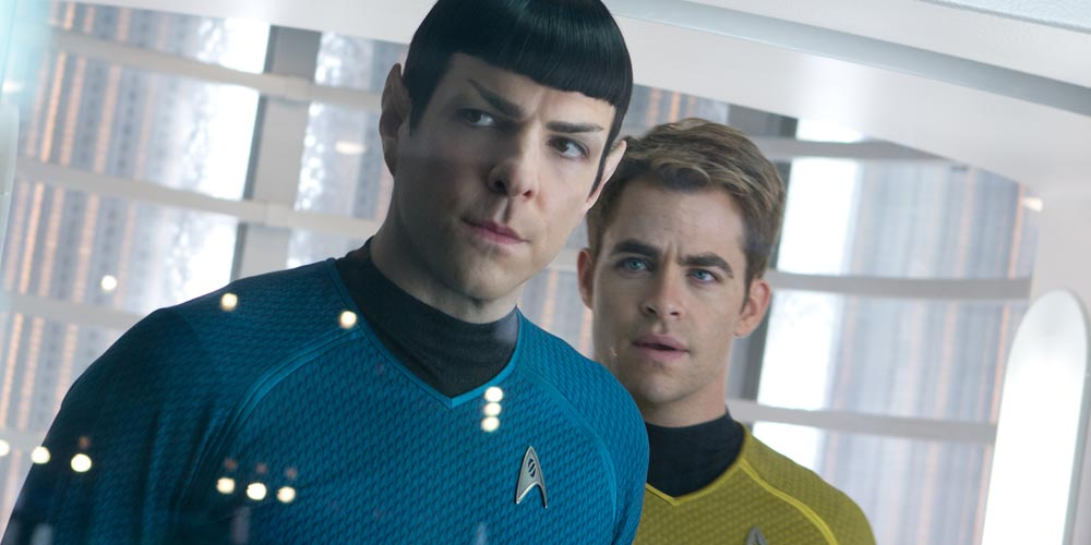 Zachary Quinto og Chris Pine i Star Trek Into Drakness