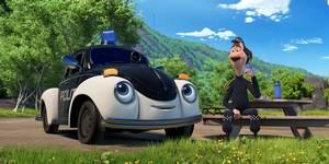 Pelle Politibil og Onkel Rikhard i Pelle Politibil på sporet