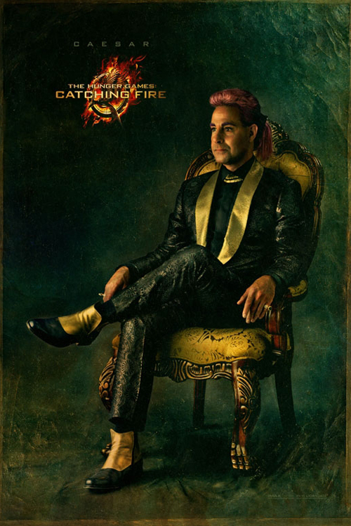 Karakterplakat Caesar Flickerman (Stanley Tucci) fra The Hunger Games: Catching Fire