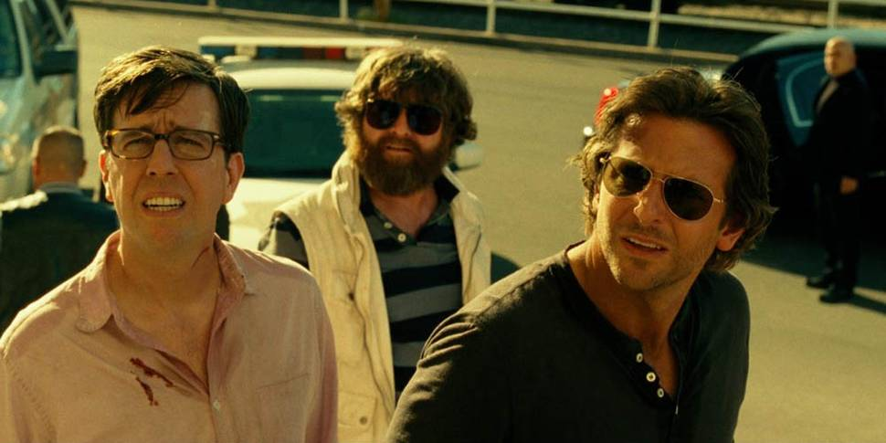Ed Helms, Zach Galifianakis og Bradley Cooper i The Hangover Part III