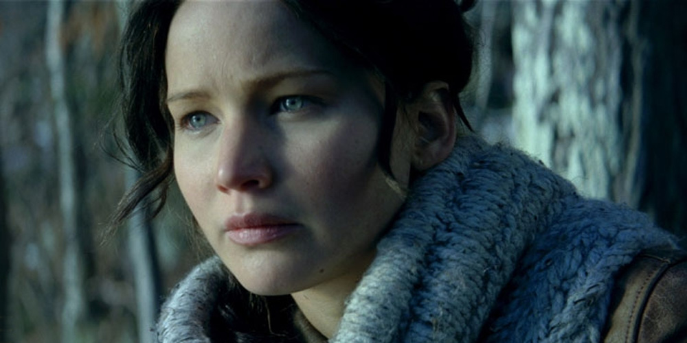 "Jennifer Lawrence som Katniss Everdeen i ""The Hunger Games: Catching Fire."""