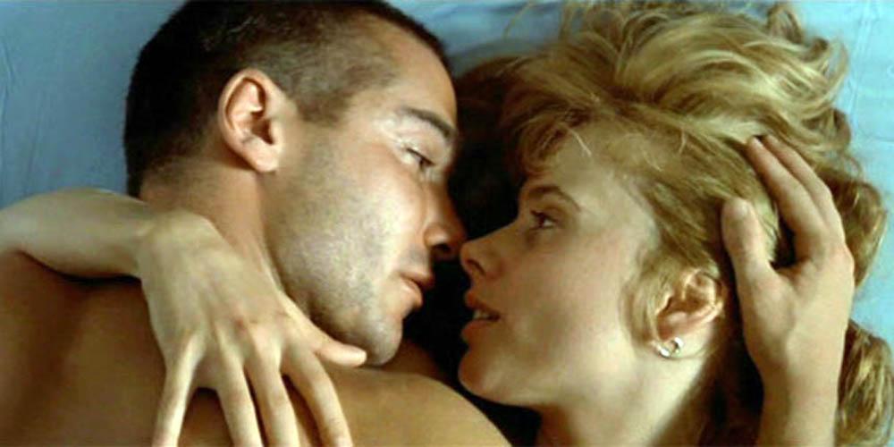 Jean-Marc Barr og Rosanna Arquette i Det store blå