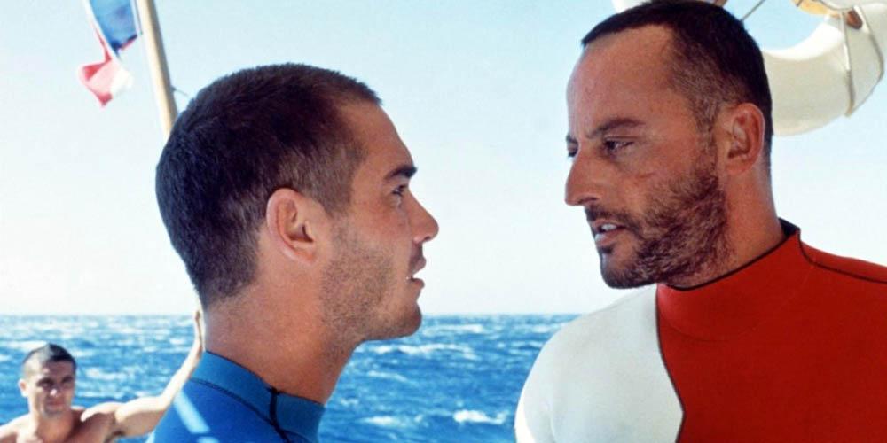 Jean-Marc Barr og Jean Reno i Det store blå
