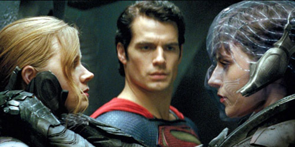 Amy Adams, Henry Cavill og Antje Traue i Man of Steel