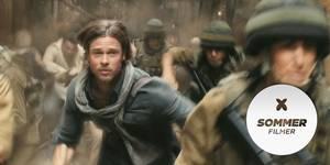 APOKALYPTISK SOMMER: World War Z med Brad Pitt er blant sommerens kinofilmer