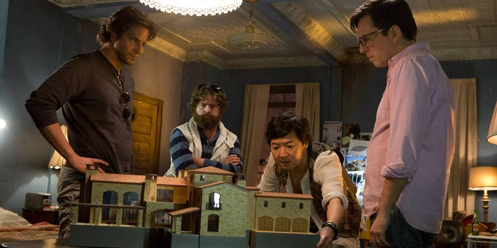 Bradley Cooper, Zach Galifianakis, Ken Jeong og Ed Helms i The Hangover Part III