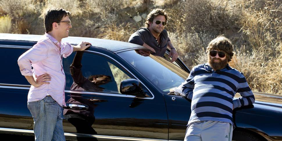 Bradley Cooper, Zach Galifianakis og Ed Helms i The Hangover Part III