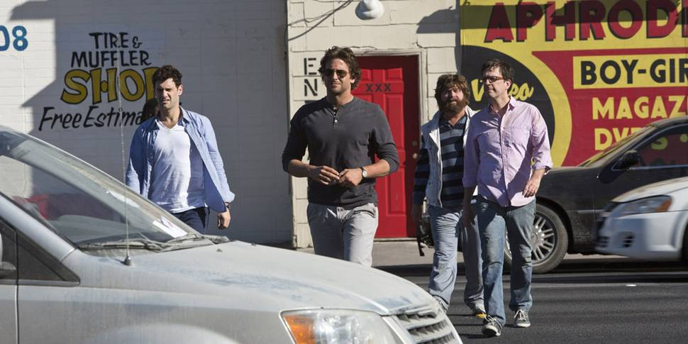 Bradley Cooper, Justin Bartha, Zach Galifianakis og Ed Helms i The Hangover Part III