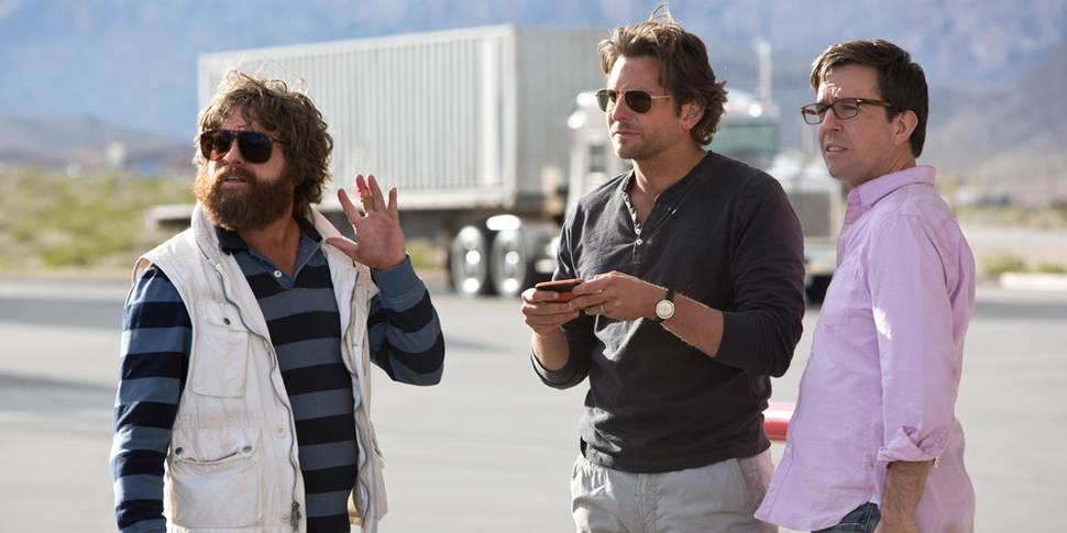 Zach Galifianakis, Bradley Cooper og Ed Helms i The Hangover Part III