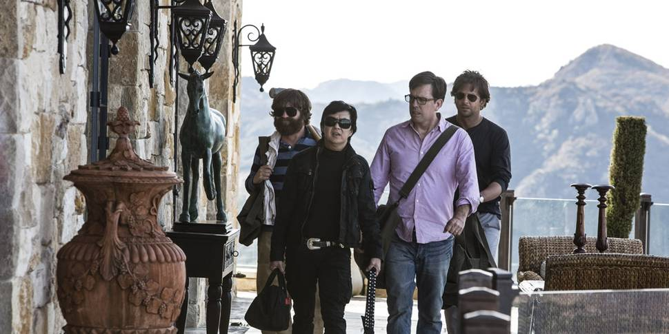 Zach Galifianakis, Bradley Cooper, Ken Jeong og Ed Helms i The Hangover Part III