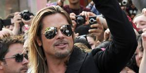 Brad Pitt på World War Z-premiere i London