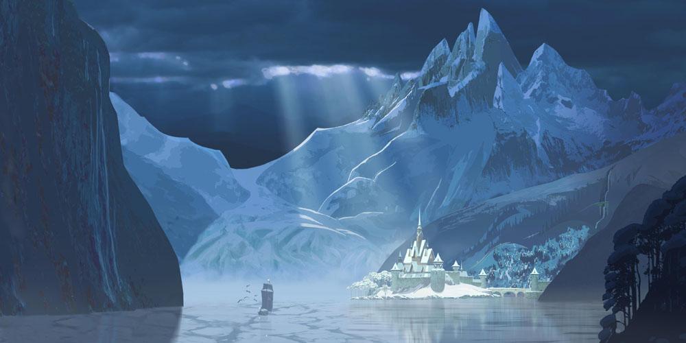 """Norsk fjellheim og eventyrslott i """"Frost."""""""
