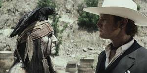 Johnny Depp og Armie Hammer i The Lone Ranger