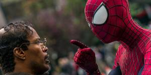 Jamie Foxx og Andrew Garfield i The Amazing Spider-Man 2