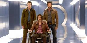 Nicholas Hoult, James McAvoy og Hugh Jackman i X-Men: Days of Future Past
