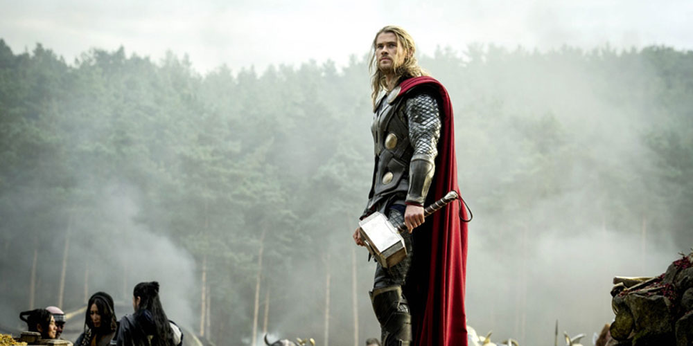 "Chris Hemsworth i forrige Thor-filmen, ""Thor: The Dark World"""