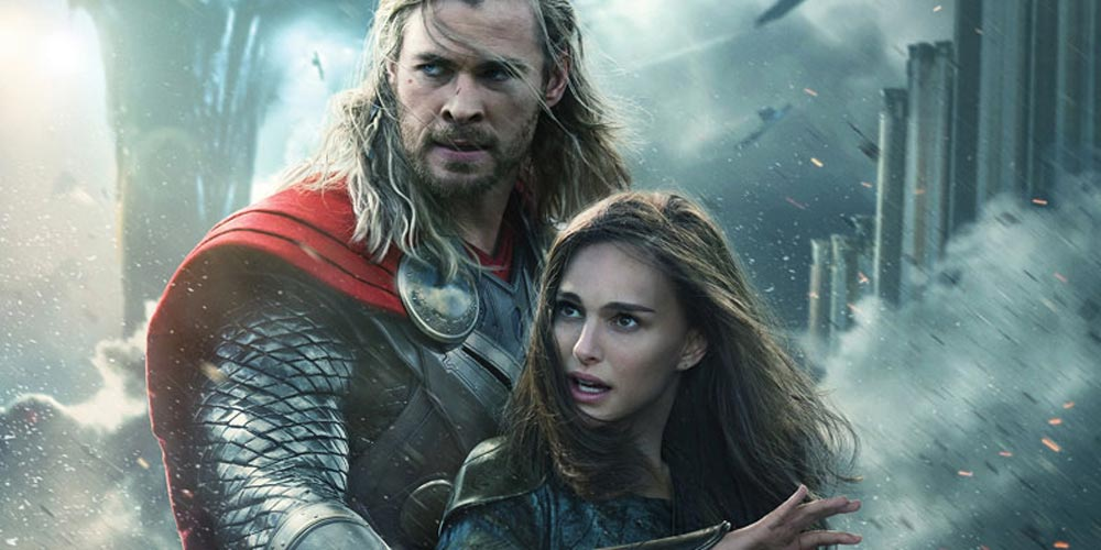Chris Hemsworth og Natalie Portman i Thor: The Dark World