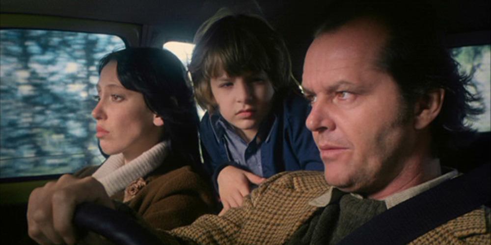 "Shelley Duvall, Danny Lloyd og Jack Nicholson i ""The Shining""."