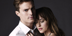 Jamie Dornan og Dakota Johnson i Fifty Shades of Grey