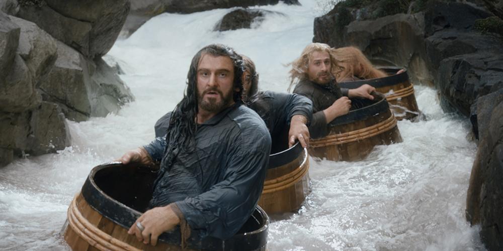 Richard Armitage og Dean O'Gorman i Hobbiten: Smaugs ødemark