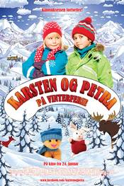 Karsten og Petra p� vinterferie - plakat