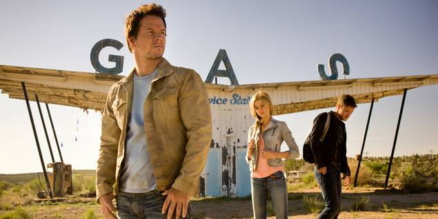 Mark Wahlberg, Nicola Peltz og Jack Reynor i Transformers: Age of Exctinction