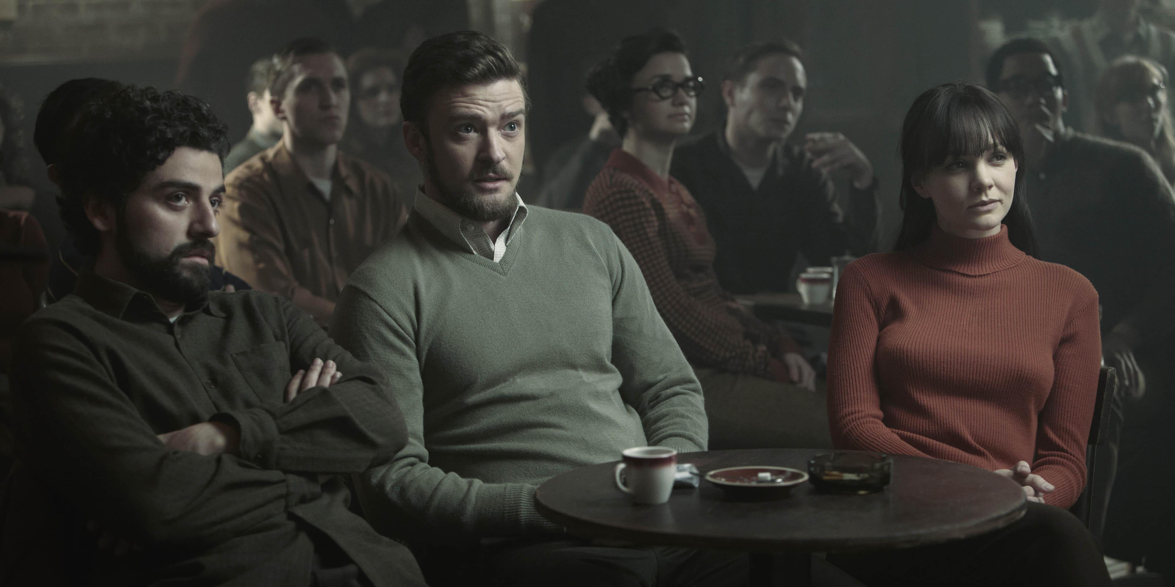 Oscar Isaac, Justin Timberlake og Carey Mulligan i Inside Llewyn Davis