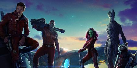 Chris Pratt, Vin Diesel og Zoe Saldana i Guardians of the Galaxy
