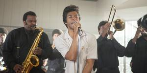 Chadwick Boseman og Craig Robinson i Get On Up
