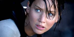 Jennifer Lawrence som Katniss i The Hunger Games: Catching Fire